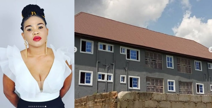 Proud single mum celebrates her birthday with a newly built house (Photos)