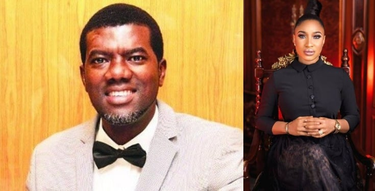 Reno Omokri reacts to Tonto Dikeh's outburst on ex-husband