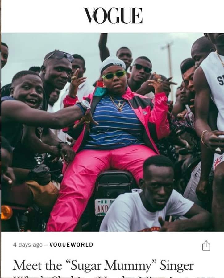 Teni entertainer, Teniola Apata, Vogue
