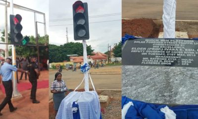 See photos from the commissioning of a street light in Cross Rivers state