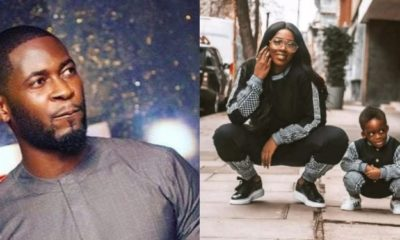 Teebillz mocks Tiwa Savage as he celebrates their son on Children's day
