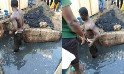Thief whipped, served food and made to clear gutter in Enugu