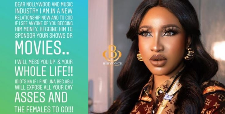 Tonto Dikeh warns Annie Idibia, Toyin, Eniola Badmus, others to stay off her 'new man'