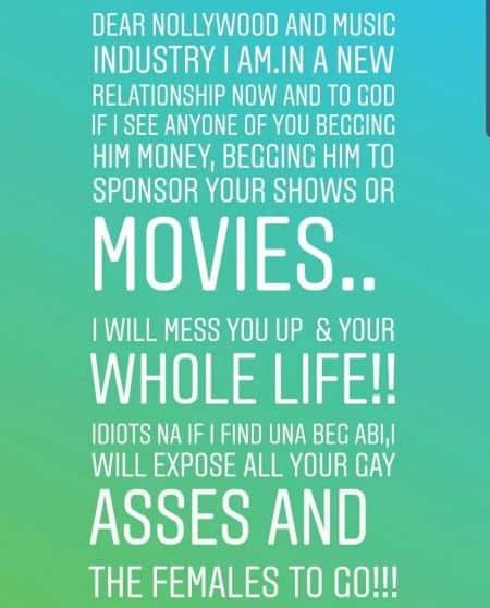 tonto dikeh warns annie idibia, Tonto Dikeh warns Annie Idibia, Eniola Badmus, others to stay off her 'new man'