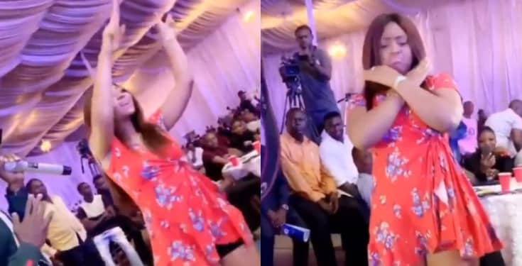 Watch As Regina Daniels Flaunts Baby Bump While Dancing
