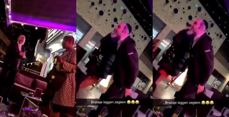 Whiteman caught on camera spitting & attacking a black woman (Video)