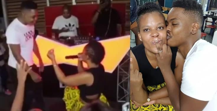 Zodwa Wabantu proposes to her boyfriend with a $43,000 diamond ring (Video)