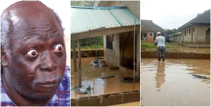Pa James Ajirebi's son laments bitterly over flooded house after heavy rainfall