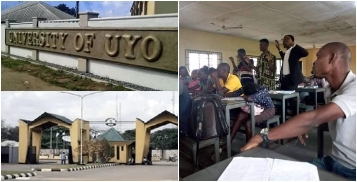 UNIUYO Lecturer Punishes Students For Talking In Class