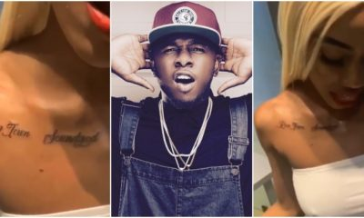 Lady Permanently Tattoos Runtown's Name On Her Body