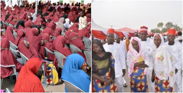 Kano holds mass wedding for 1,500 couples; gifts them cash and furniture