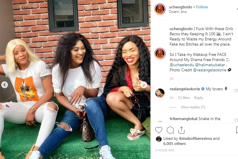 Actress Cossy fights dirty, Actress Cossy fights dirty, calls Halima Abubakar a snake and a lesbian, begs Uche Ogbodo to flee
