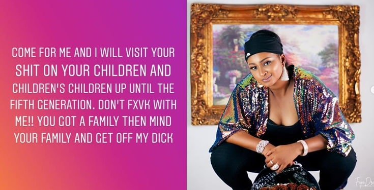 "Image result for ""Your child will die!"" – Etinosa curses man who trolled her for going naked"