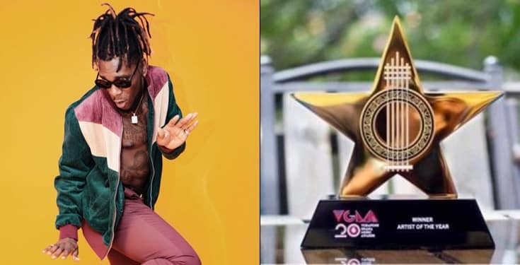Burna Boy Wins African Artiste Of The Year At VGMA 2019