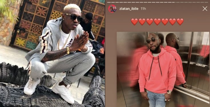 Zlatan Ibile shows love to Davido