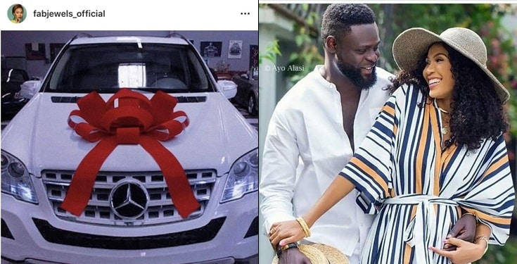 Yomi Casual Surprises Wife With Multi-Million Naira Mercedes Benz