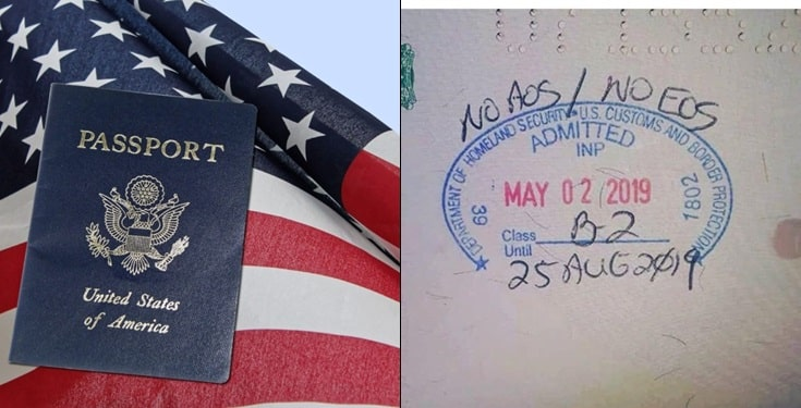 Panic as US immigration stamps No EOS / AOS on Nigerian Passport