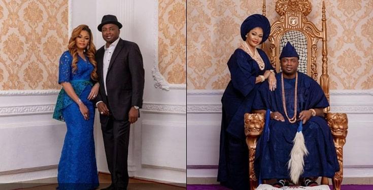 Oba Elegushi gushes over wife Sekinat as the celebrate 16th Wedding
