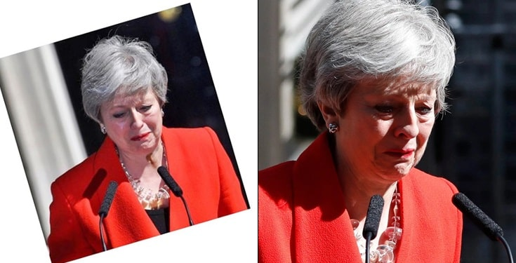Theresa May breaks down in tears as she resigns as UK Prime Minister