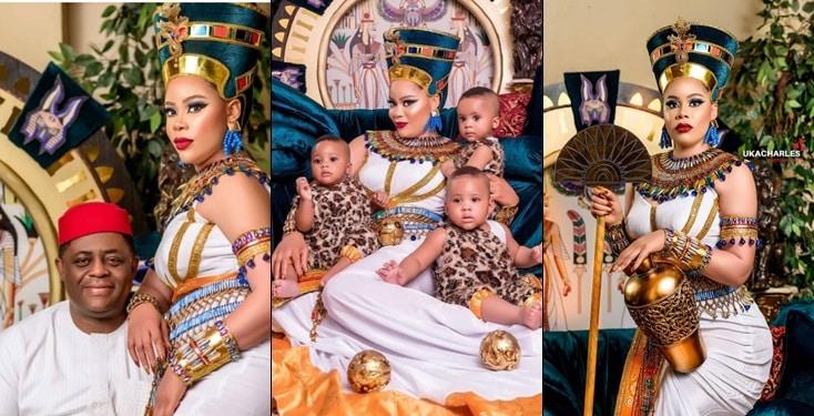 Precious Fani Kayode and their triplets celebrate birthdays today