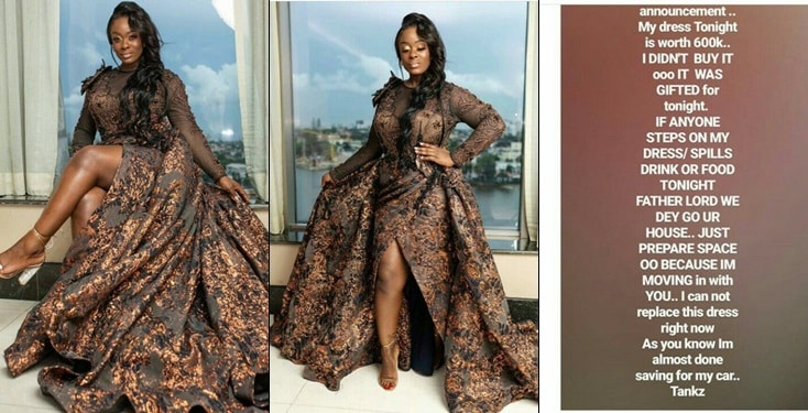 Uriel causes commotion on Instagram as she shows off stunning 'N600k' dress