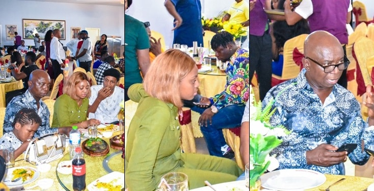 Regina Daniels And Hubby Senator Ned Nwoko Host Nollywood Stars To Lunch