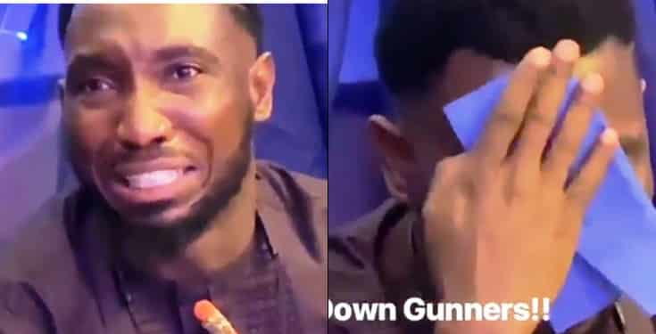 Timi Dakolo breaks down in tears after Arsenal's Europa finals loss to Chelsea