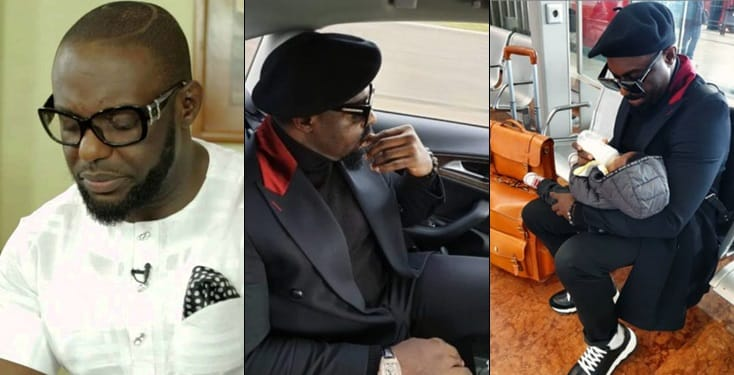 Jim Iyke weeps as he parts with his new baby