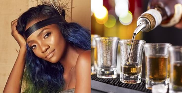 """Alcohol exposes my love"" -Simi"