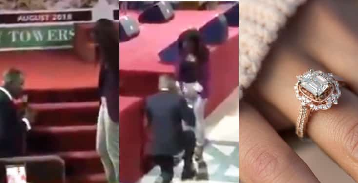 RCCG member proposes to his girlfriend during church service