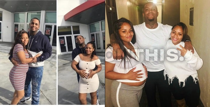 One of the twin sisters pregnant for the same man reveal the truth about the relationship