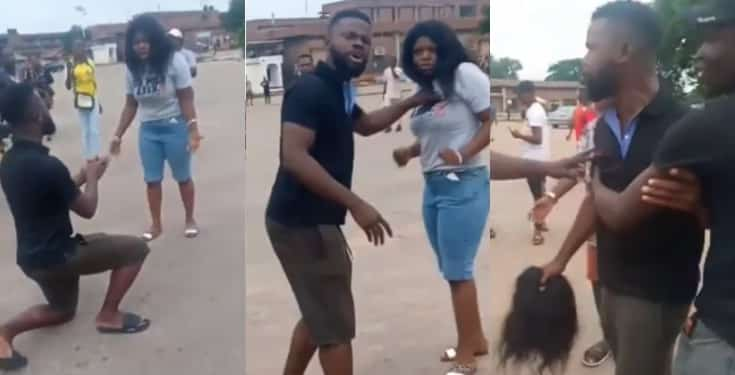 """""""I am not a woman beater"""" – Man in viral proposal video cries out"""