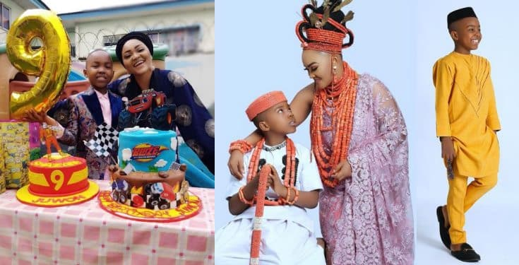 Actress Mercy Aigbe celebrate son's birthday with lovely photos