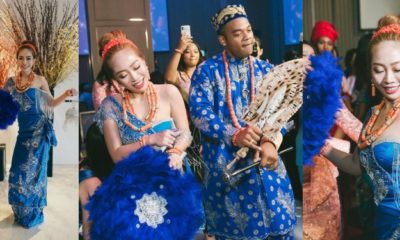 Adorable photos from a Nigerian man's wedding to a Taiwanese lady