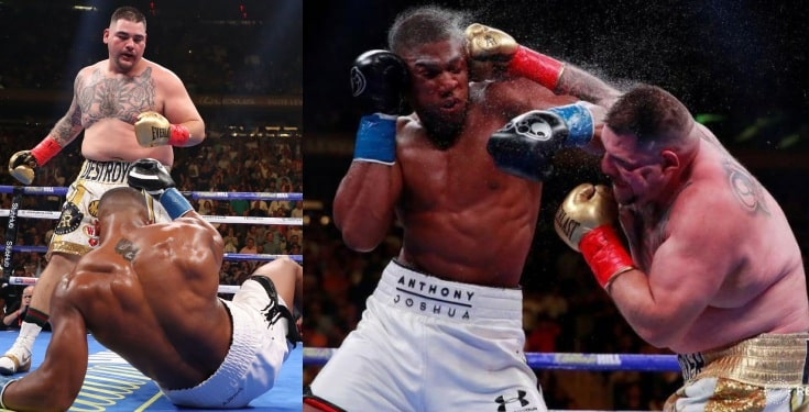 Anthony Joshua reacts after shocking defeat to Andy Ruiz Jr.
