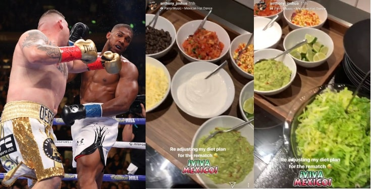 Anthony Joshua reveals new diet plan for his rematch with Andy Ruiz Jr