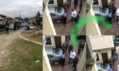 Billionaire's son, Eniola Adenuga storms his baby mama's house with 25 policemen
