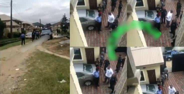Billionaire's son, Eniola Adenuga storms his baby mama's house with 25 policemen
