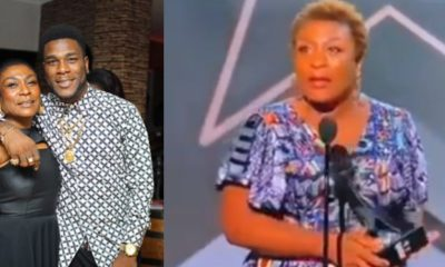 Burna Boy's mother gives powerful speech while accepting son's BET Awards (video)