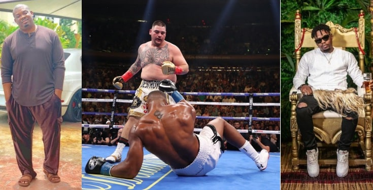 Don Jazzy, Olamide & other celebrities react to Anthony Joshua shocking defeat