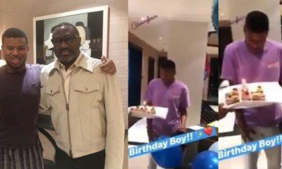 Femi Otedola's only son, Fewa, celebrates his birthday In London (video)