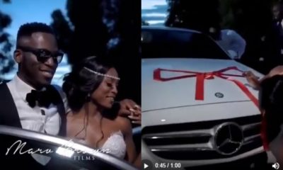 Groom gifts his bride a new Mercedes Benz on their wedding day (video)