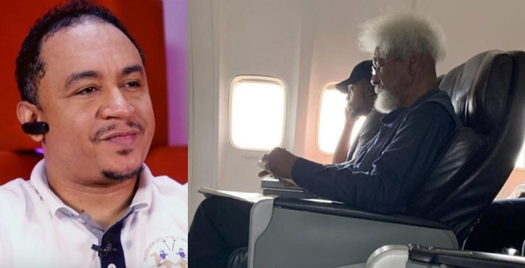 'I would have told him to stand up' - Daddy Freeze reacts to Wole Soyinka's plane incident