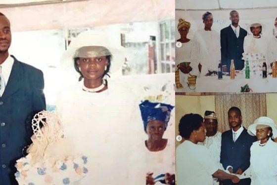 Iyabo Ojo shares wedding photos to curse blogger Kemi Ashefon, who said she was never married
