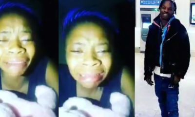 Lady cries out after Naira Marley comes back from prison and forgets her (Video)