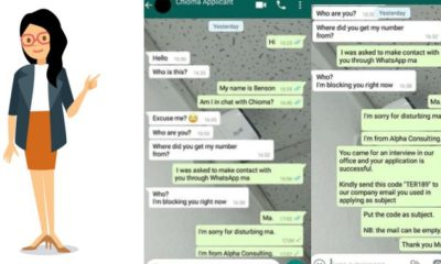 Lady shares how an impatient job seeker missed an opportunity on whatsapp