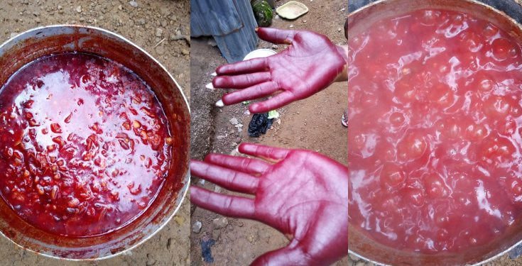 "Lady shares pictures of the ""fake"" palm oil she bought in Abuja (Photos)"