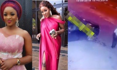 Lady thrown out of a bus after being killed in Lagos (Video)