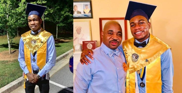 MC Oluomo's son graduates from US school (photos)