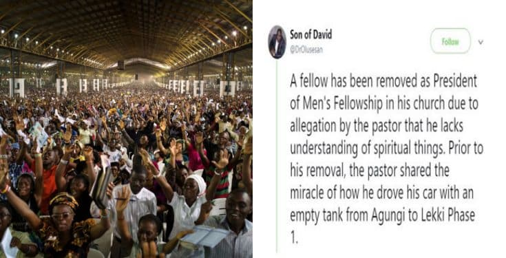 Man removed from key position in church for rubbishing his Pastor's testimony